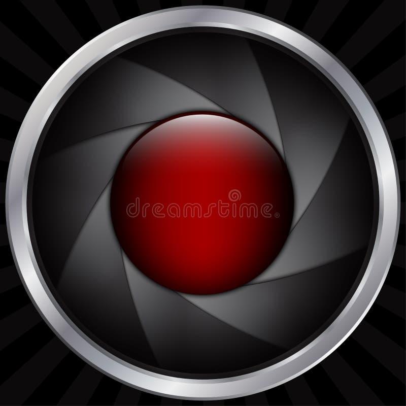 抽象透镜背景 皇族释放例证