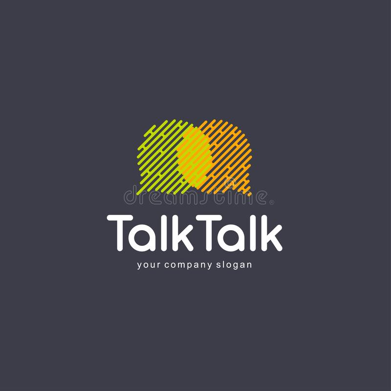 抽象通信商标设计元素 闲谈商标,谈的sms概念 库存例证