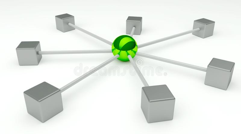 抽象通信构想网络 皇族释放例证