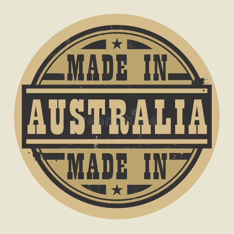 抽象邮票或标签与在澳大利亚制造的文本 向量例证