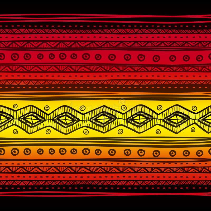 抽象部族传染媒介无缝的织品样式 向量例证
