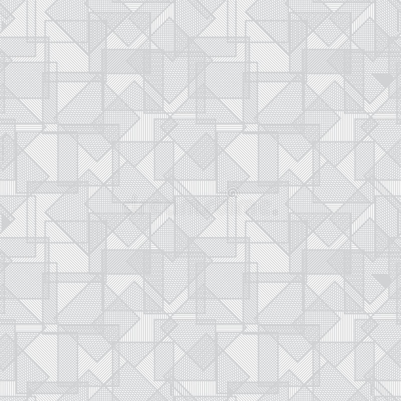 抽象重叠的正方形纹理向量 库存例证
