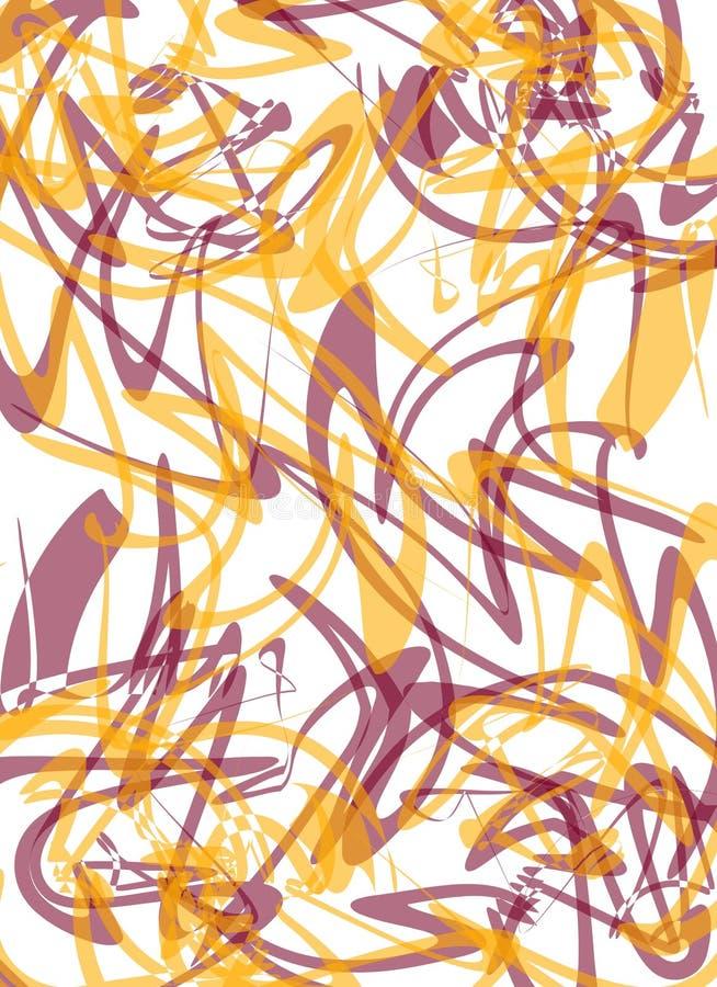 抽象金子紫色纹理 库存例证