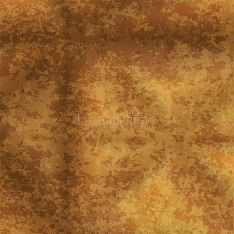 抽象金子难看的东西纹理背景 库存例证