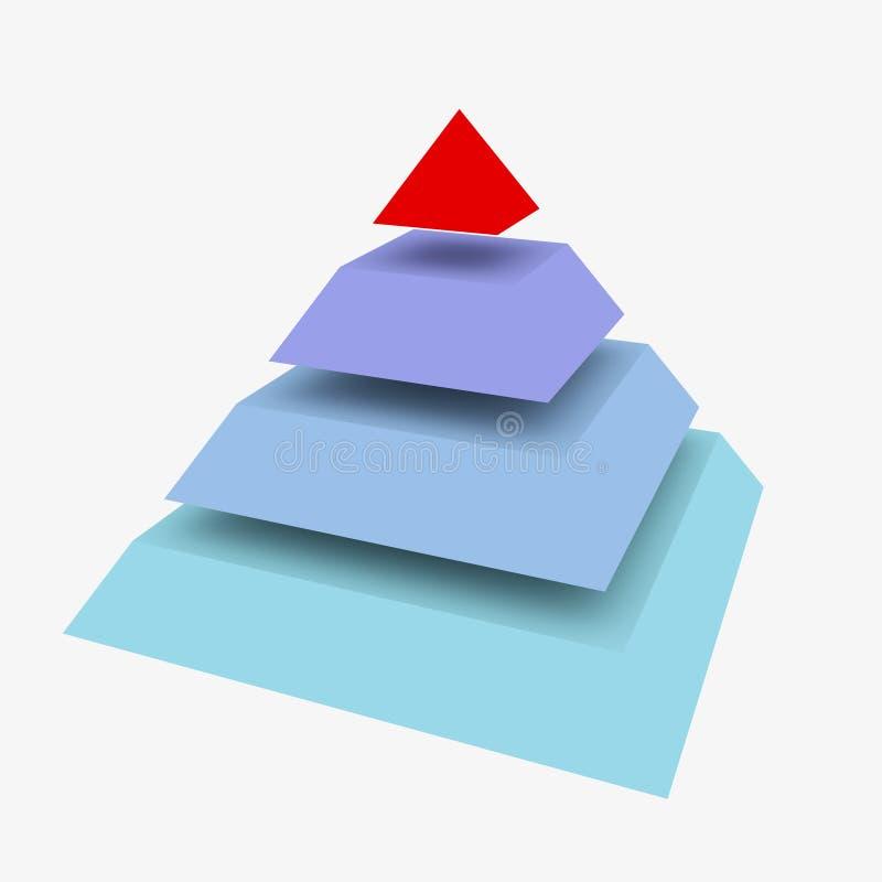 抽象金字塔 皇族释放例证