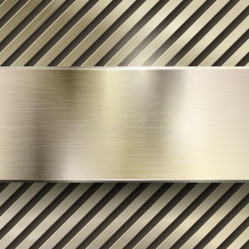 抽象金属传染媒介背景 向量例证