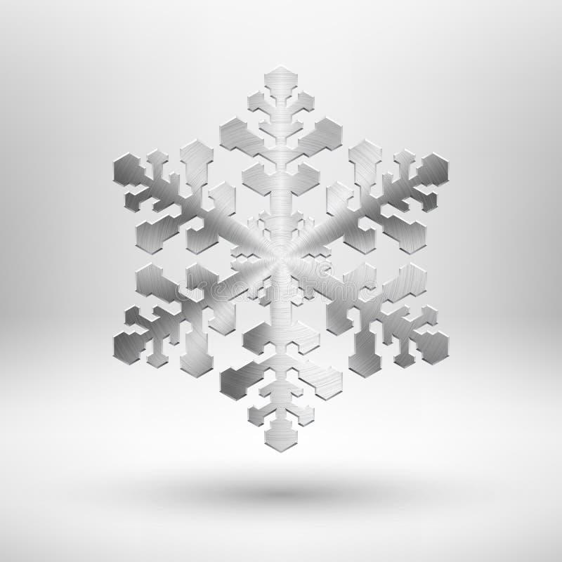 抽象金属圣诞节雪花 向量例证