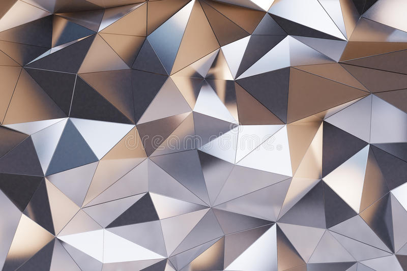 抽象金属墙壁 库存例证
