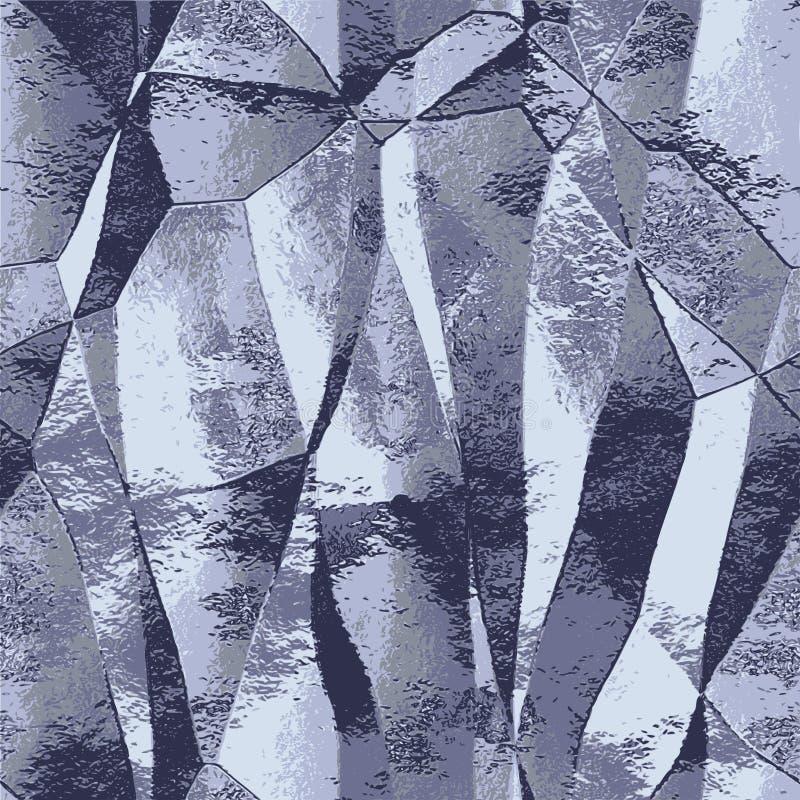 抽象金属折叠了银起皱纹的箔背景  库存例证