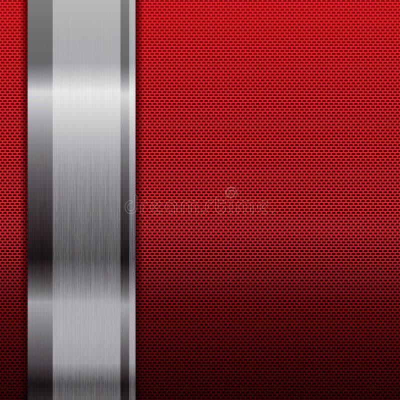 抽象金属栅格背景 向量例证