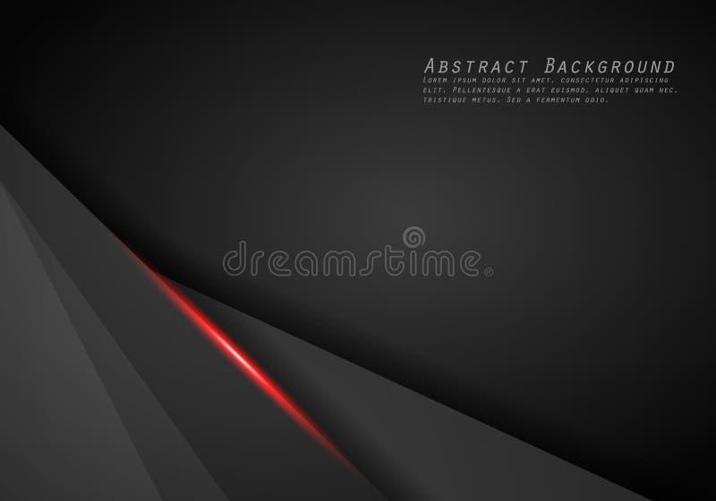 抽象金属红色黑框架布局现代技术设计模板背景 皇族释放例证