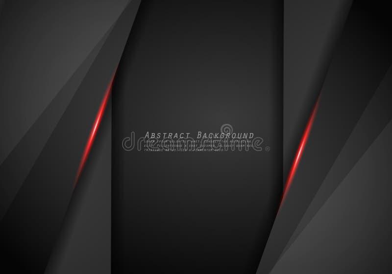 抽象金属红色黑框架布局设计技术创新概念背景 向量例证