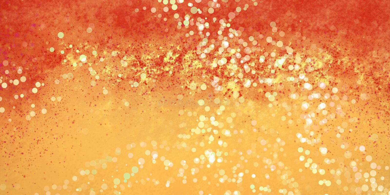 抽象金银铜合金和红色背景设计与油漆飞溅声和bokeh光纹理 向量例证