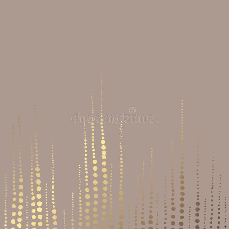 抽象金黄 典雅的装饰背景 设计的传染媒介样式 库存例证