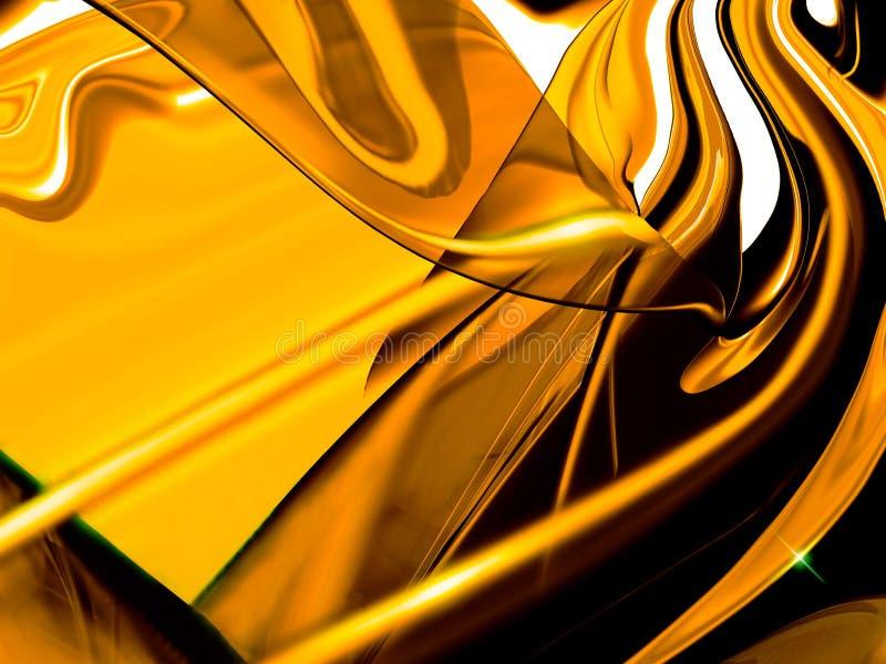 抽象金黄 向量例证