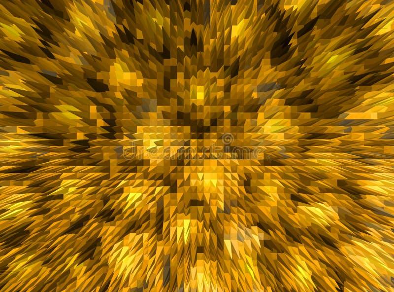 抽象金黄马赛克背景 向量例证