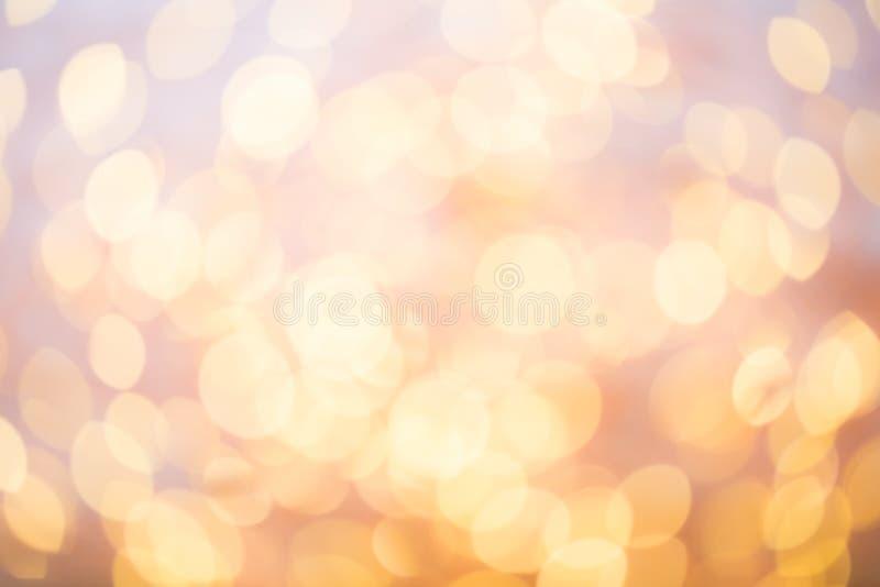 抽象金bokeh 圣诞节和新年题材背景 免版税图库摄影