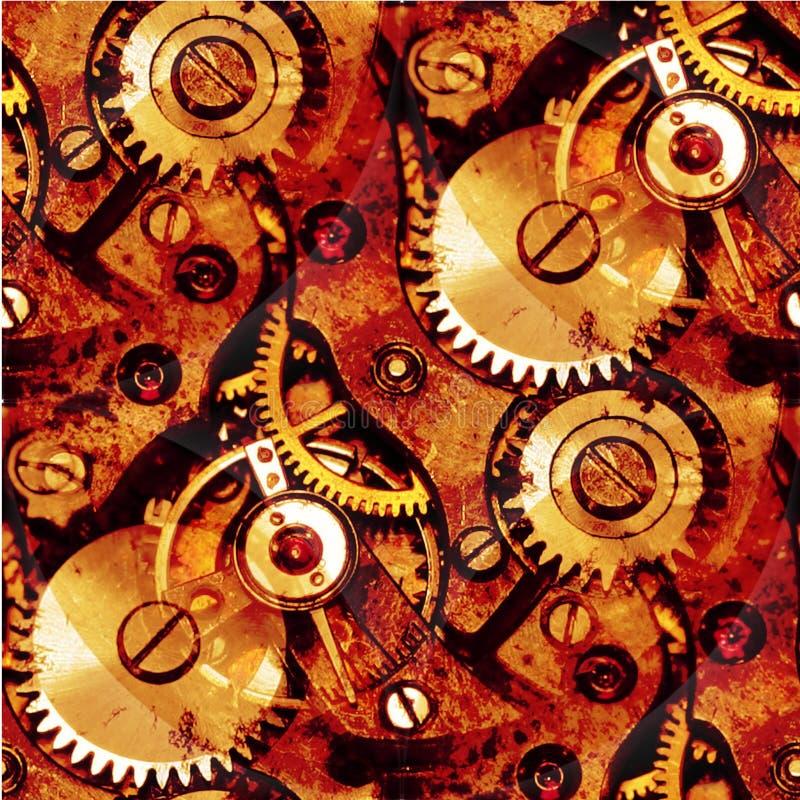 抽象钟表机构齿轮 库存图片
