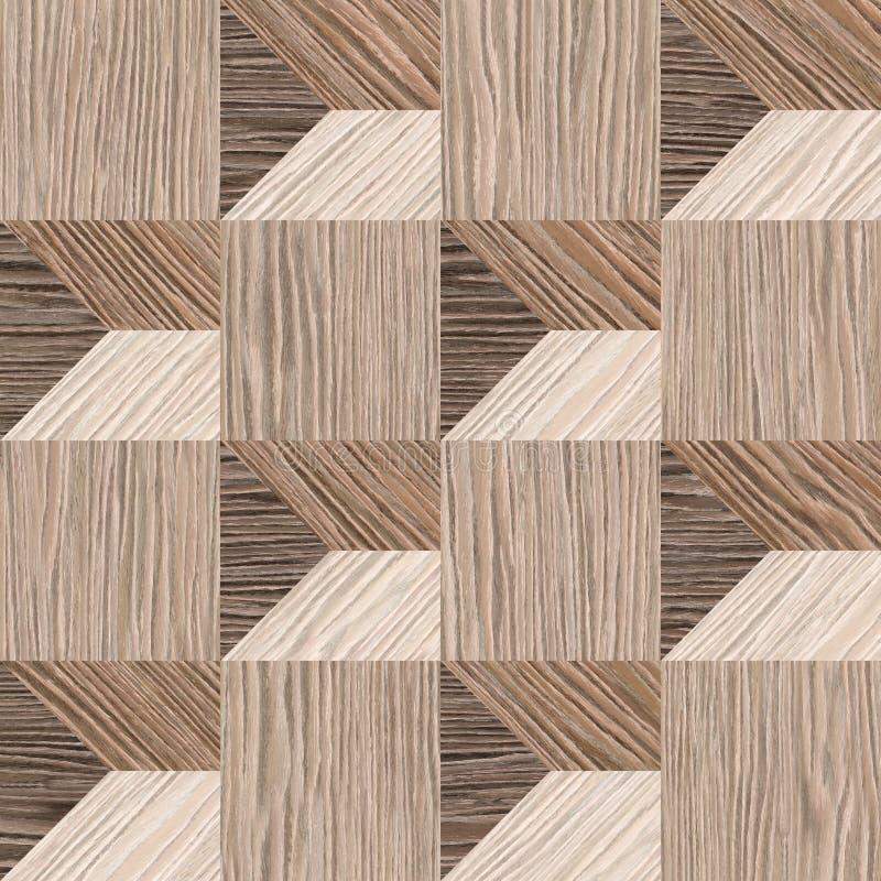 抽象铣板样式-无缝的背景-被炸开的橡木 库存例证
