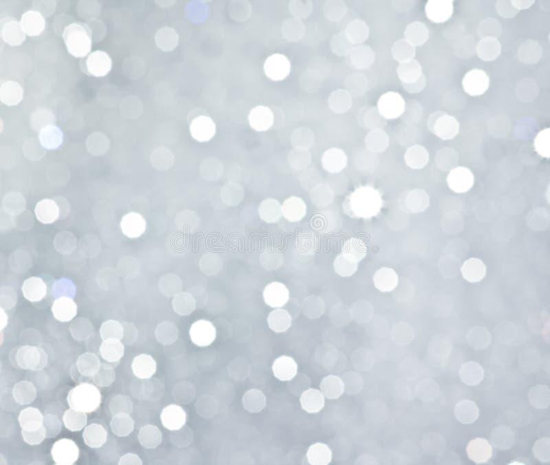 抽象银色圆bokeh背景 图库摄影