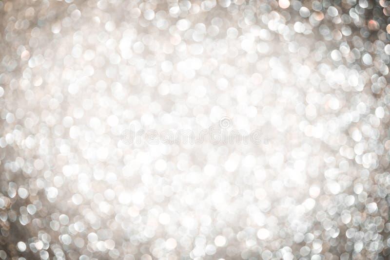抽象银色圣诞节背景 免版税库存图片