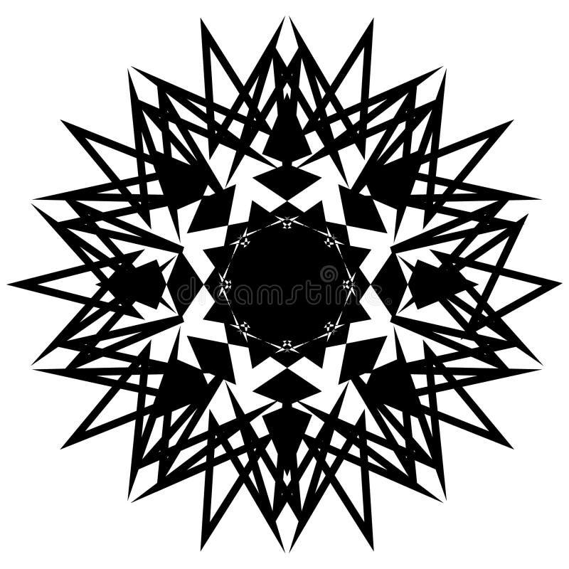 抽象锋利的星装饰品装饰传染媒介 向量例证