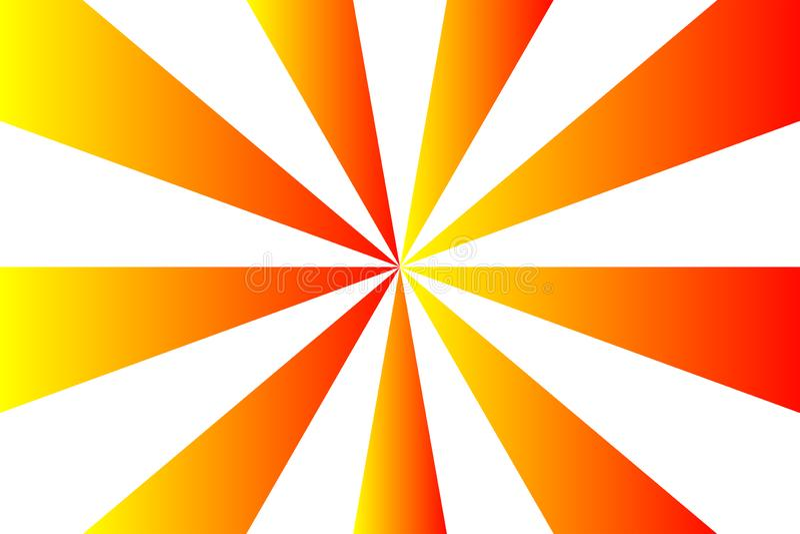 抽象镶有钻石的旭日形首饰的样式、梯度红色、桔子和黄色光芒颜色在白色透明背景 传染媒介例证, EPS 向量例证