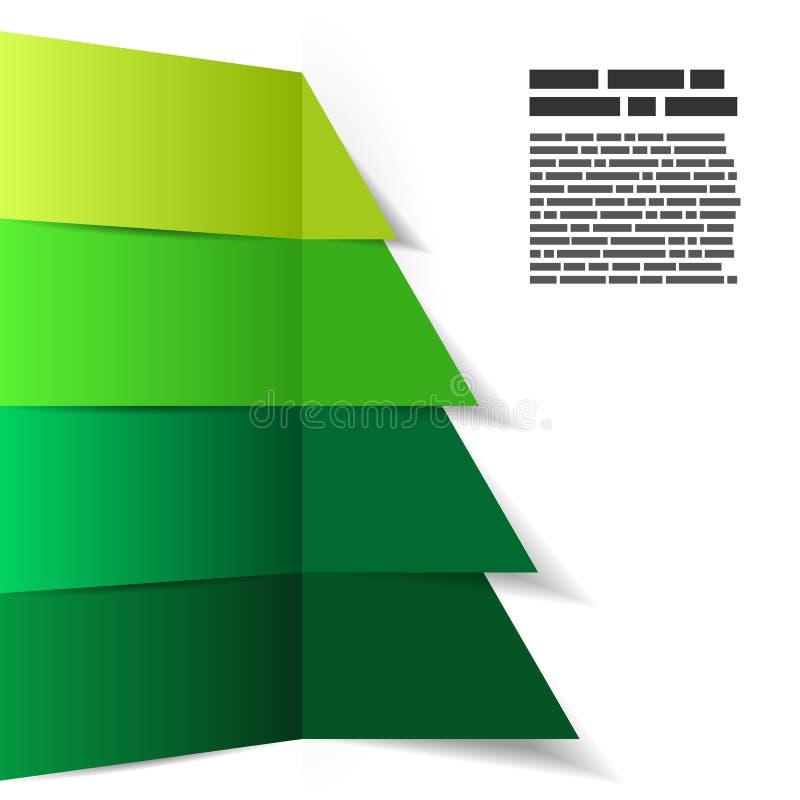 抽象镶边圣诞树背景 库存例证