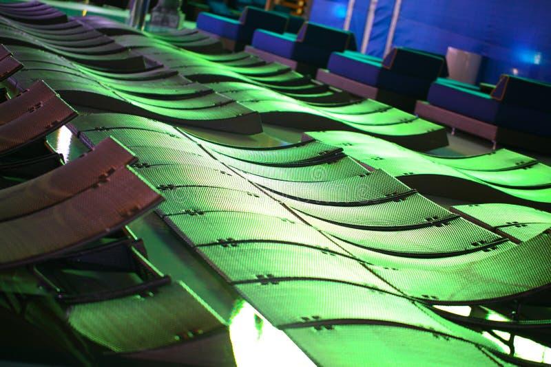 抽象长凳五颜六色的池 免版税库存图片