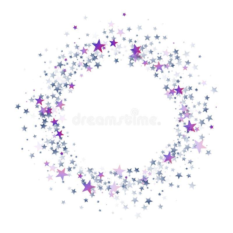 抽象闪烁星 向量例证