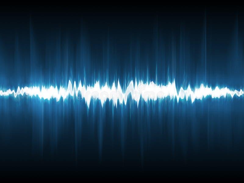 抽象闪电波形形式 免版税库存图片