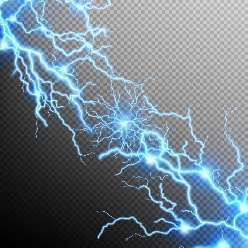 抽象闪电风暴背景 10 eps 皇族释放例证
