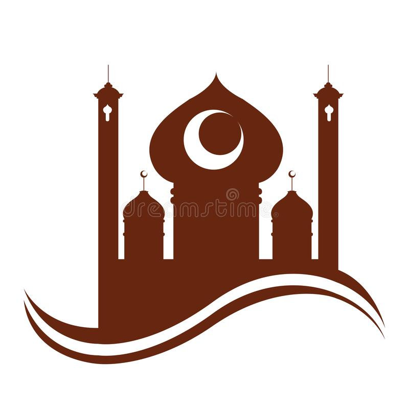 抽象阿拉伯寺庙 ramadan的kareem 皇族释放例证