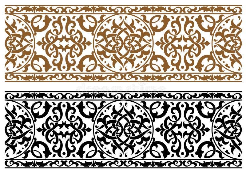 抽象阿拉伯装饰品 向量例证