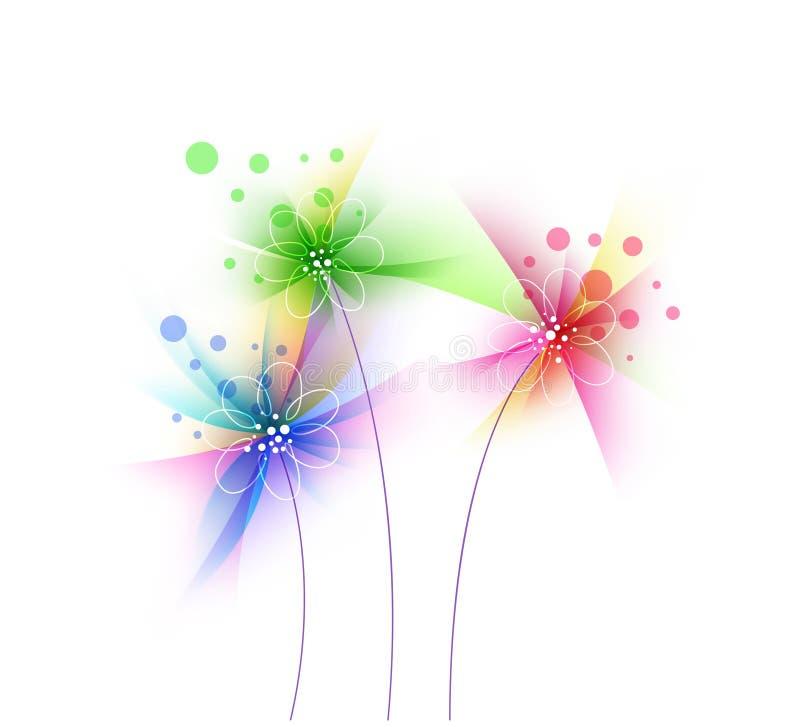 抽象难看的东西花,花卉艺术设计 向量例证
