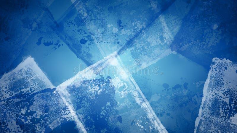 抽象难看的东西重叠了在蓝色背景的纹理 向量例证