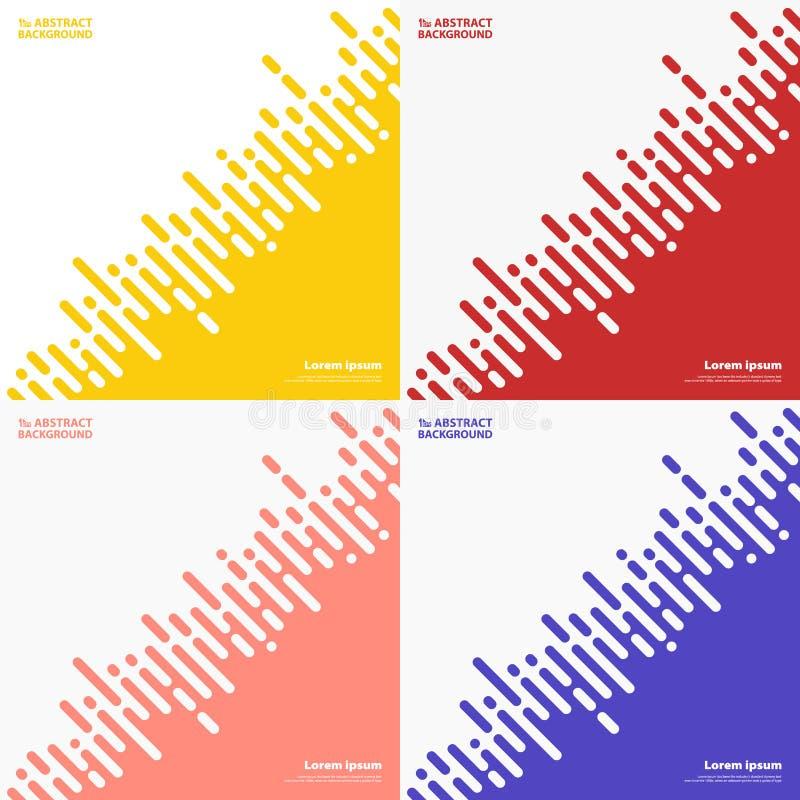 抽象集合上色techno设计背景条纹线  r 向量例证
