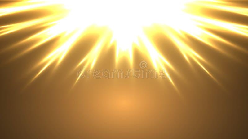 抽象霓虹太阳 向量例证