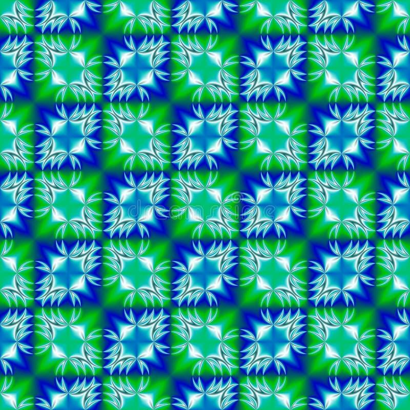抽象青绿色被检查的样式 背景砖老纹理墙壁 无缝例证的绳索 皇族释放例证
