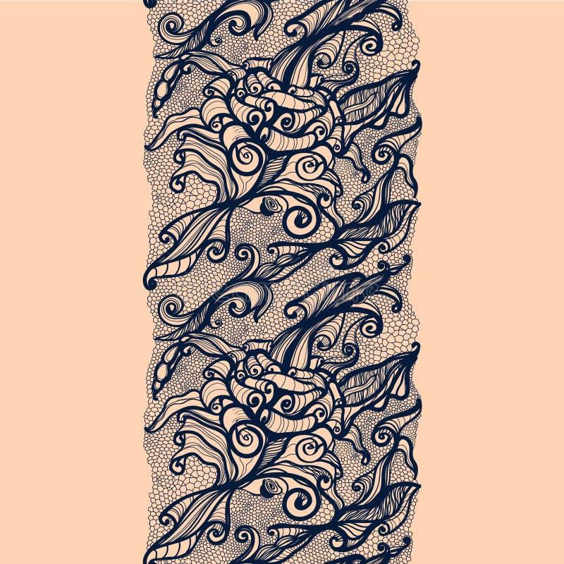 抽象鞋带丝带垂直的无缝的样式 向量例证