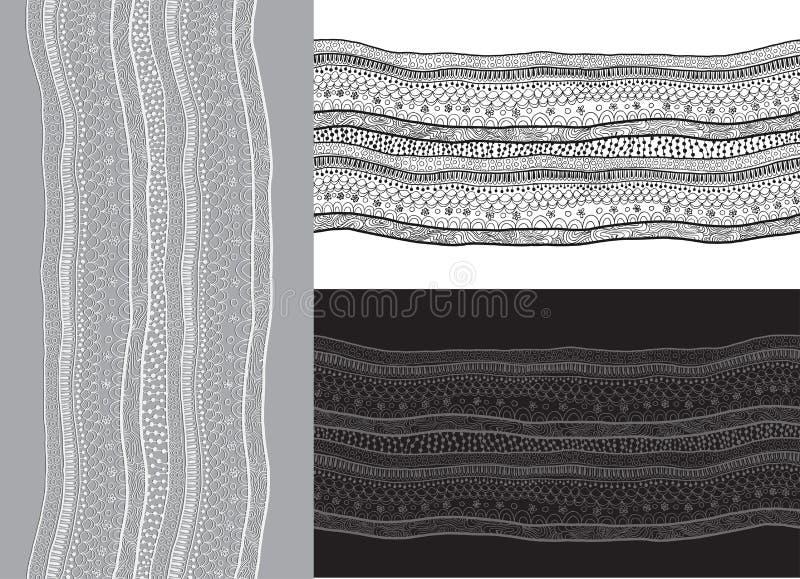 抽象鞋带丝带无缝的样式。 皇族释放例证