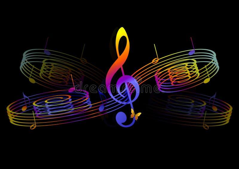 抽象音乐会 库存例证