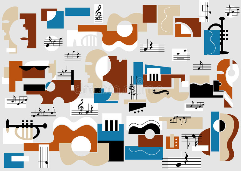 抽象音乐厅 库存图片