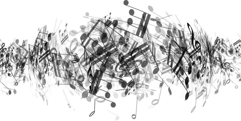 抽象音乐注意背景 皇族释放例证