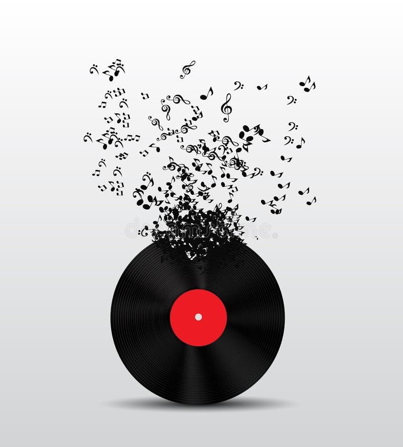 抽象音乐背景向量例证为 皇族释放例证