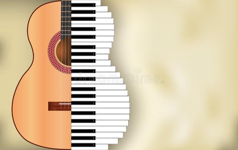 抽象音乐背景 库存例证