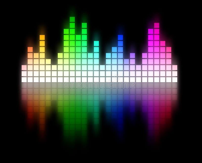 抽象音频光谱调平器信号波形