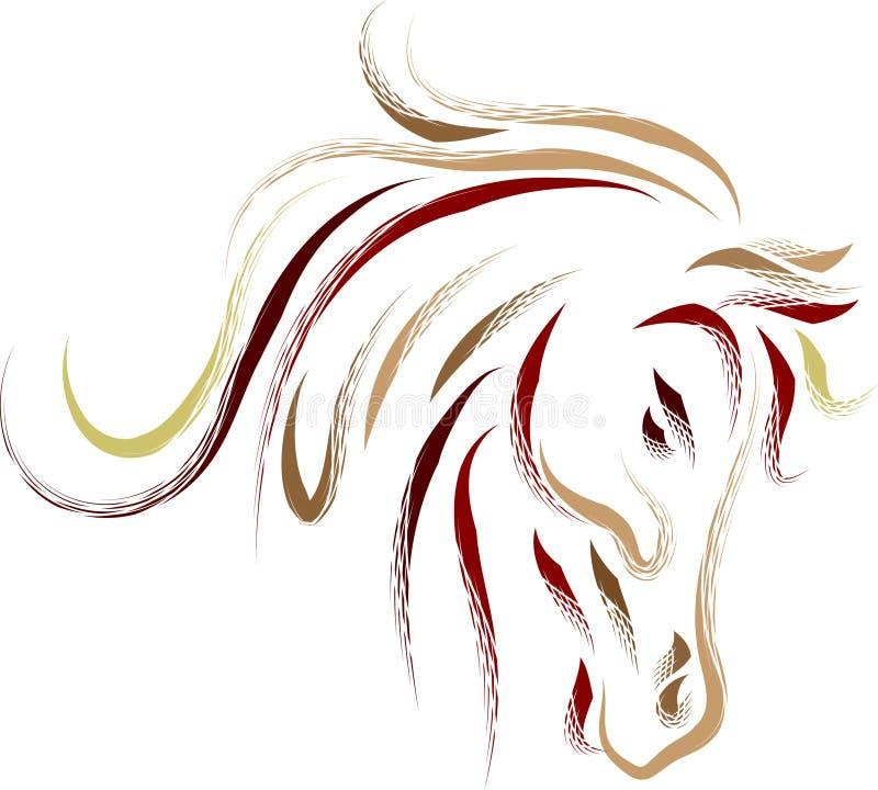抽象顶头马 向量例证