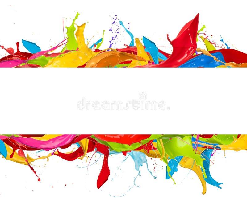 抽象颜色在白色背景飞溅 皇族释放例证