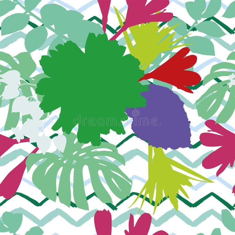 抽象颜色开花叶子曲折前行背景 向量例证